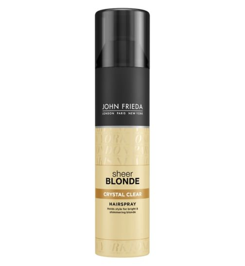 John Frieda Sheer Blonde Crystal Clear Hairspray 250ml