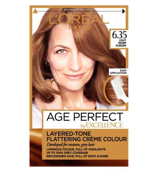 L'Oreal Paris Excellence Age Perfect 6.35 Light Warm Auburn