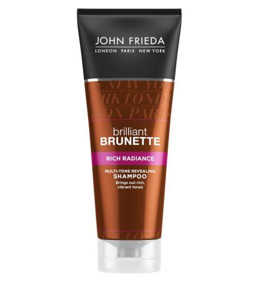 John Frieda Brilliant Brunette Rich Radiance Multi-Tone Revealing Shampoo 250ml