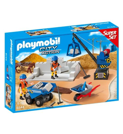 Playmobil Construction Site SuperSet 6144