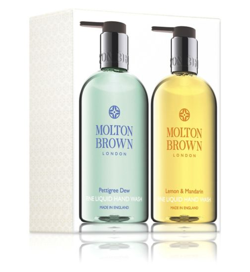Molton Brown Pettigree Dew and Lemon & Mandarin Hand Wash Gift Set