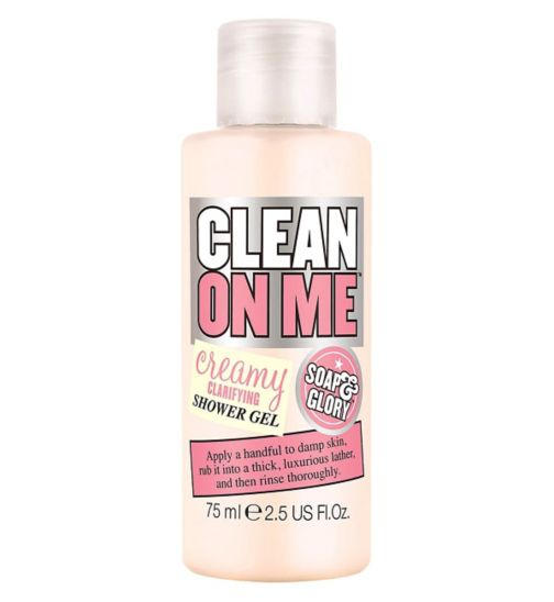 Soap & Glory Travel Size Clean On Me Body Wash 75ml