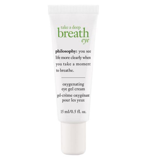 philosophy take a deep breath oil-free oxygenating eye gel cream 15ml