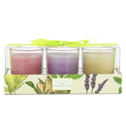 Garden Collection Mini Candle Trio
