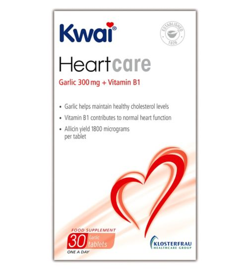Kwai Heart Care Garlic 300mg plus Vitamin B1 30 Tablets