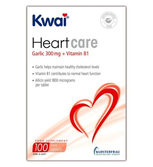 Kwai Heart Care Garlic 300mg plus Vitamin B1 100 Tablets
