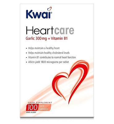 Kwai Heart Care Garlic 300mg plus Vitamin B1 100 Tablets