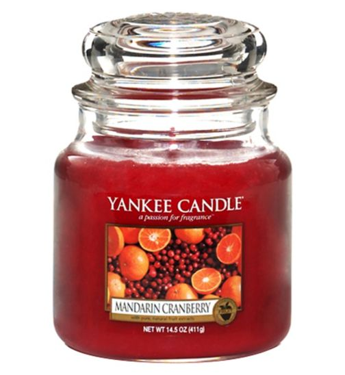 Yankee Candle Mandarin and Cranberry Medium Jar Candle