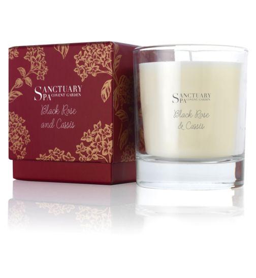 Sanctuary Spa Black Rose & Cassis Candle 200g