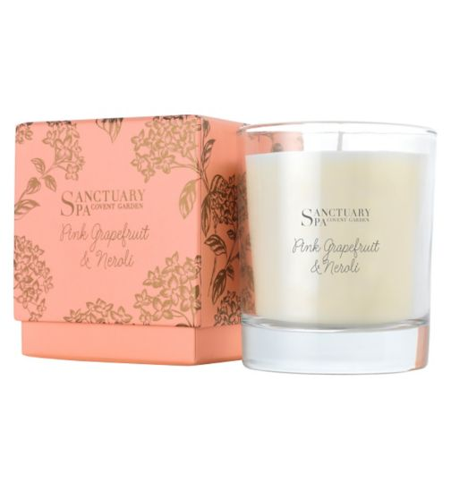 Sanctuary Spa Pink Grapefruit & Neroli Candle