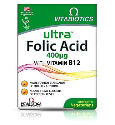 Vitabiotics Ultra Folic Acid - 60 Tablets
