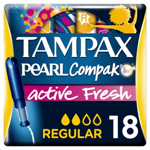 Tampax Compak Pearl Active Fresh Regular Tampons Applicator 18x