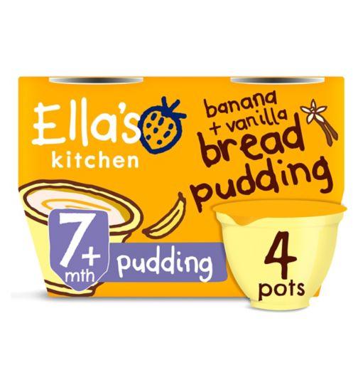 Ella's Kitchen Banana & Vanilla Bread Pudding from 7 Months 4 x 80g