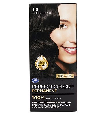 Image of Boots Perfect Colour 1.0 Midnight Black Hair Dye - Permanent