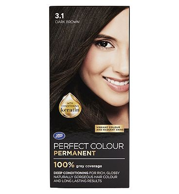 Image of Boots Perfect Colour 3.1 Dark Brown Hair Dye - Permanent