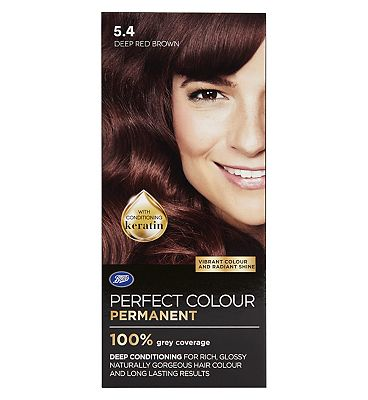 Image of Boots Perfect Colour 5.4 Deep Red Brown Hair Dye - Permanent