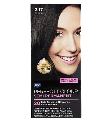 Image of Boots Perfect Colour 2.17 Black Hair Dye - Semi Permanent