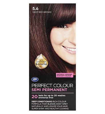 Image of Boots Perfect Colour 5.6 Deep Red Brown Hair Dye - Semi Permanent