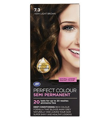 Image of Boots Perfect Colour 7.3 Very Light Brown Hair Dye - Semi Permanent