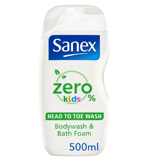 Sanex Zero% Kids Head to Toe Bodywash 500ml
