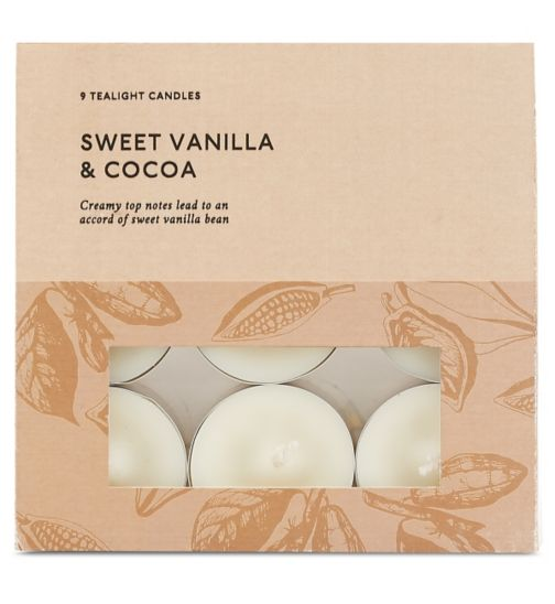 Boots Home Fragrance Vanilla and Cocoa Tealight Candles