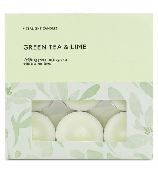 Boots Home Fragrance Green Tea & Lime Tealight Candles
