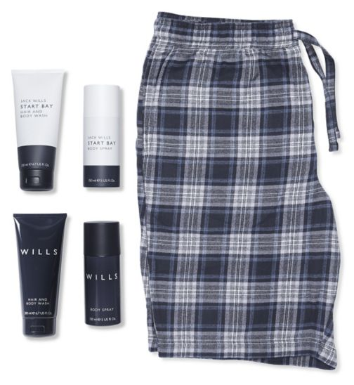 Jack Wills Shorts And Toiletries Gift Set