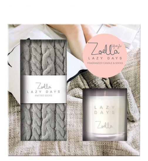 Zoella Lazy Days Fragranced Candle & Socks
