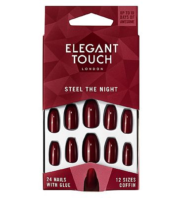 Elegant Touch After Dark Nails - Steel the Night