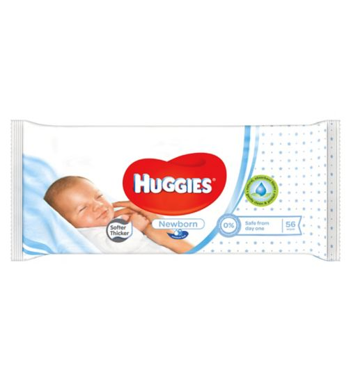 Huggies Newborn 56 Baby Wipes