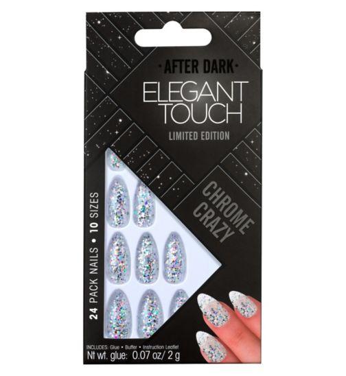 Elegant Touch After Dark Nails - Chrome Crazy