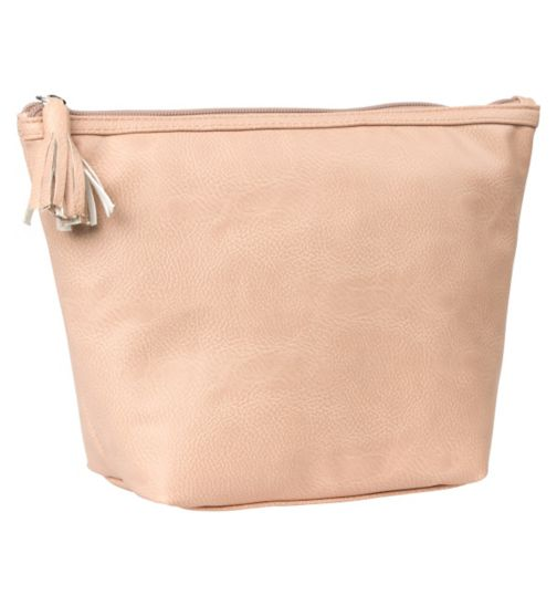 Primrose Hill nude faux leather wash bag
