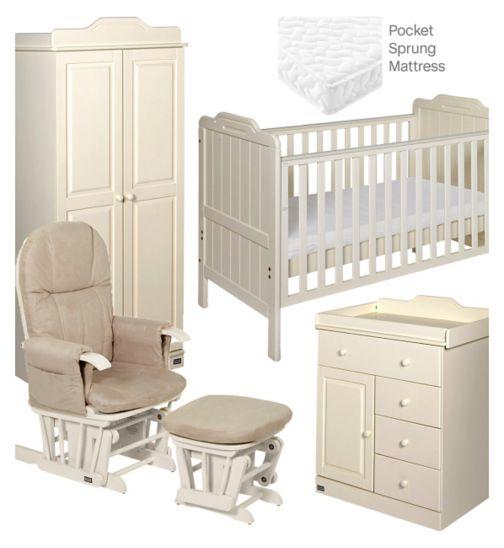 Tutti Bambini Alexia 5 Piece Nursery Room Set - Vanilla