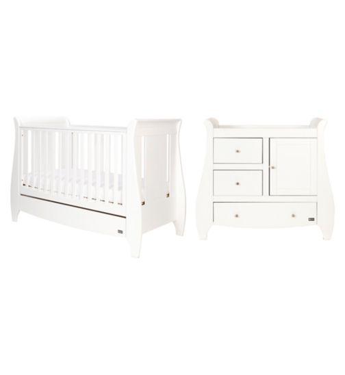 Tutti Bambini Katie 2 Piece Nursery Room Set - White