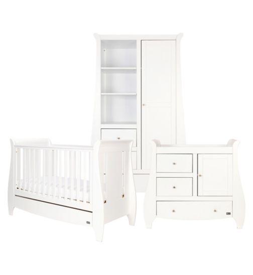 Tutti Bambini Katie 3 Piece Nursery Room Set - White