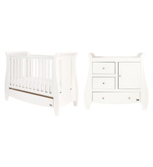 Tutti Bambini Lucas 2 Piece Nursery Room Set - White