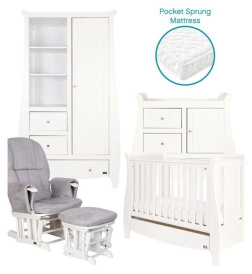 Tutti Bambini Lucas 5 Piece Nursery Room Set - White