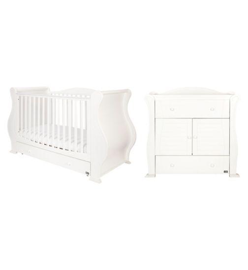 Tutti Bambini Marie 2 Piece Nursery Room Set - White