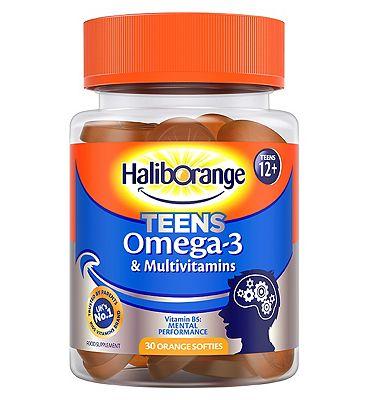 Haliborange Teens Omega-3 & Multivitamins - 30 Orange Softies