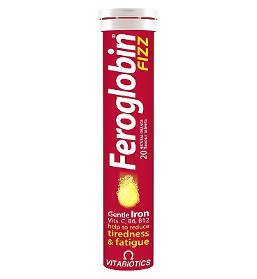 Viabiotics Feroglobin Fizz Orange Flavour - 20 Tablets