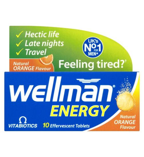 Wellman Energy - 10 Orange Flavour Effervescent Tablets