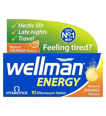 Wellman Energy - 10 Orange Flavour Effervescent Tablets