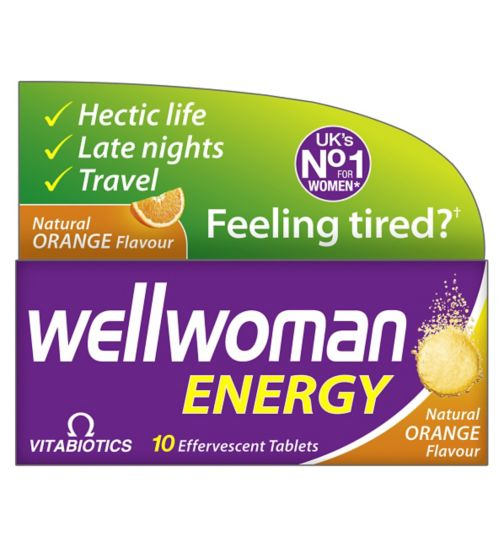 Vitabiotics Wellwoman Energy - 10 Orange Flavour Effervescent Tablets