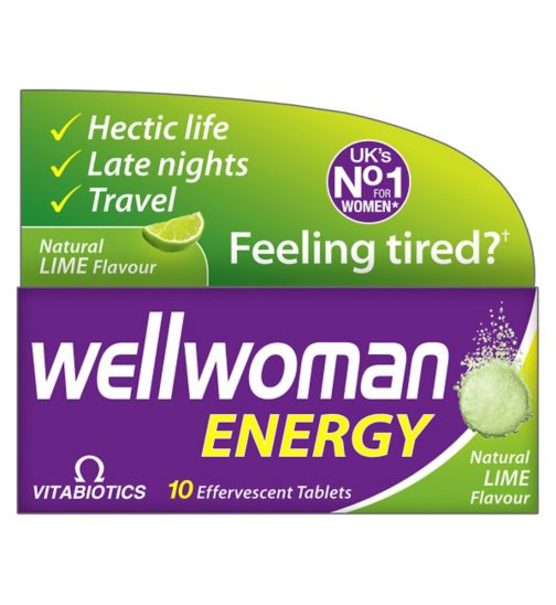 Vitabiotics Wellwoman Energy - 10 Lime Flavour Effervescent Tablets