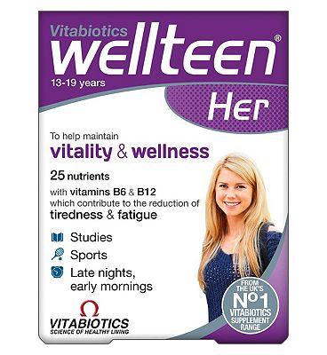 Vitabiotics Wellteen Her - 30 Tablets