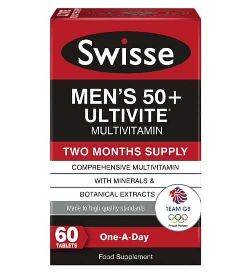 Swisse Men's Ultivite 50+ Multivitamin - 60 tablets