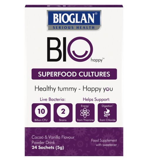 Bioglan BioHappy Superfood Cultures - 24 sachets