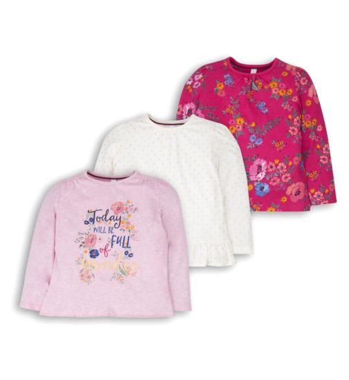Mini Club girls pack of 3 super soft long sleeve tops