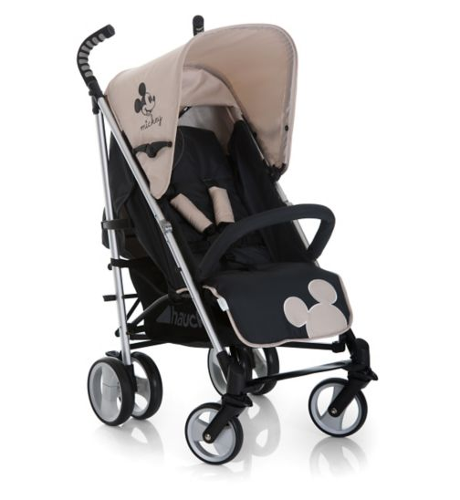 Hauck Disney Spirit Pushchair - Mickey Charcoal - inc Raincover