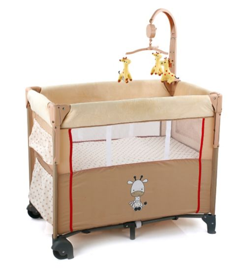 Hauck Dream'n Care Travel Cot - Giraffe